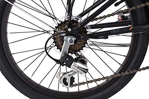 KS Cycling Faltrad Foldtech 6 Gänge Fahrrad, schwarz, 20 Zoll - 3
