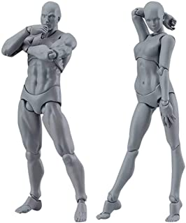 COLOR-LILIJ Drawing Figures for Artists Action Figure Model Human Mannequin Man and Woman..