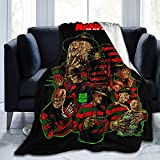 A Nightmare On Elm Street-Freddy Krueger Flannel Fleece Throw Blanket Cozy Washable Bed Blanket Lightweight Shaggy Luxury Sand Blanket Home Decorative Couch Cover Bedroom Chair Sofa Picnic 80'X60'