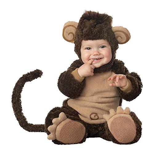 LPATTERN Kinderkostüm Overall- Baby/Kleinkind 3tlg Lustiges Karnevalskostüm Faschingskostüm Dicker Tierkostüm, AFFE, 68/74( Tag: 80/S)