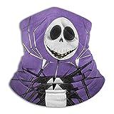 Stockdale Jack Skellington Purple Neck Warmer Breathable Neck Gaiter for Men