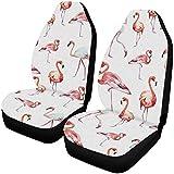 BONRI Flamingos - Fundas protectoras para asientos delanteros (poliéster, 1 par)