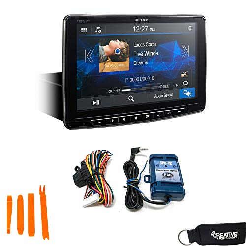 Alpine iLX-F259 Halo Media Receiver with CarPlay and Android Auto, Includes SWI-RC Steering Wheel Interface