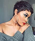 Naseily Short Curly Synthetic Wigs For Black Women Natural Black Hair Wig African American Women Wigs