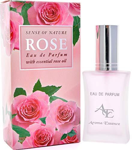 Rose Eau de Parfum für Frauen von Aroma Essence, Charismatic Love Rose Duft des bulgarischen Tals der Rosen, langanhaltendes, frisches romantisches Parfüm, angereichert mit Damaszenen-Rosenöl, 35 ml