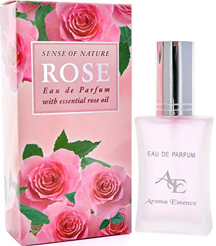 Aroma Essence, fragancia de rosa del valle búlgaro de rosas, de larga duración, aroma romántico fresco enriquecido con aceite de rosa de damascena, 35 ml