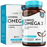Omega 3 (2000mg) - 660 mg EPA e 440 mg DHA - Capsule di gel morbide...