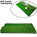 "AJFASHION 24""x12"" Golf Launch Training Pad Sports Game PP+PE Golf Hitting Mat Choice of Fairway/Dual Side..."