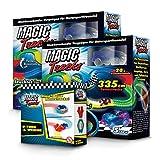BCdirekt Magic Tracks U Turn Set | Autorennbahn für Kinder ab 3 Jahren | Leuchtende Autos | Kinder Spielzeug Set | Autorennbahn Leuchtend