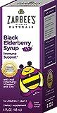 Zarbee's Naturals Children's Black Elderberry Syrup for Immune Support, Vitamin C and Zinc, 4 Fl Oz