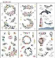 6ピース/パッククジラ愛花装飾文房具ステッカースクラップブッキングDIY日記アルバムスティックラベル