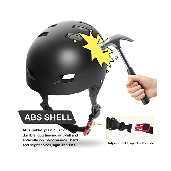 Adult Cycling helmet UniqueFit Kids&Adult Helmet Adjustable Protective Helmet for Scooter Cycling Roller Skate,CPSC&ASTM Certified Helmet