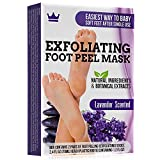 Exfoliating Foot Peel Mask - Two Pairs of Booties for Smooth and Soft Feet - Peeling Away Rough Heels Dead Skin Cells and Calluses - Lavender Scented Natural Formula for Silky Soft Feet