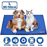 GoStock Dog Cooling Mat, Pet Cooling Mat Non-Toxic Gel Self Cooling Pad for Dogs and Cats Pet Ice Mat Dog Cool Pad for Crates, Kennels and Beds(36