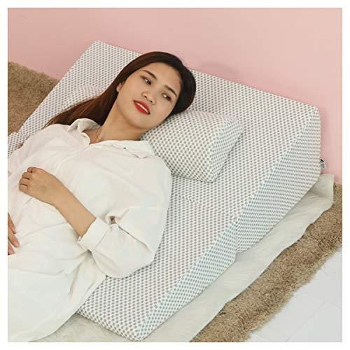 PREDUXYOW Orthopädisches Bett Keilkissen, Matratzenkeil Entspannungs und Relaxkissen, Druckentlastendes Ruhekissen, Rückenkissen oder Beinkissen,Styleb,Withpillows
