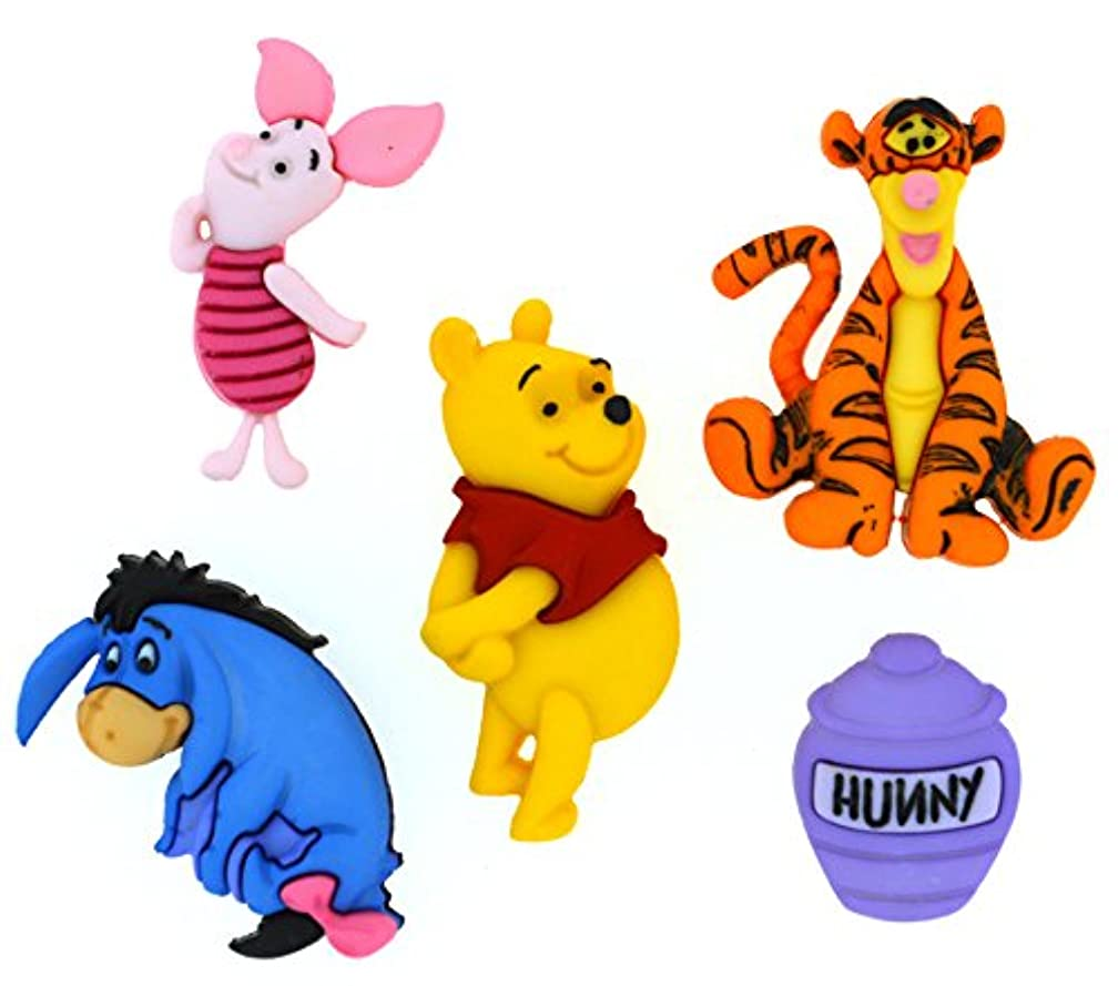 Dress It Up 7729 Disney Button Embellishments, Winnie The Pooh