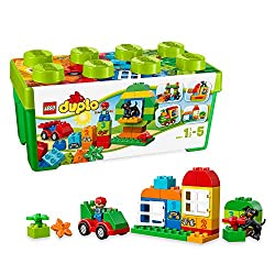 Let your imagination run wild with this colourful collection of LEGO DUPLO elements in a handy storage case Features a wagon base, two window elements, a dog, numbered bricks and a wide selection of other DUPLO bricks Includes one DUPLO boy figure an...