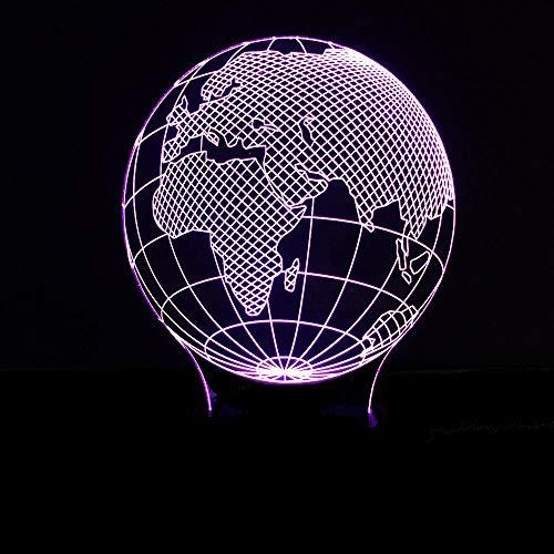 Afrika kaart, USB-interface, kleurrijke touch afstandsbediening schakelaar nachtlampje bedlampje kinderen cadeau