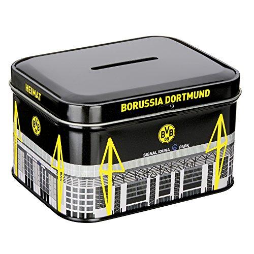 Borussia Dortmund, BVB-Metallspardose, Schwarz, Gelb, Weiß, 0