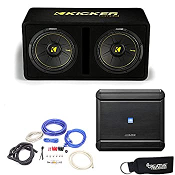 Alpine MRV-M500 Amplifier and a Kicker DCWC122 Dual CompC 12  Subwoofers in Ported Enclosure 2-Ohm - Includes Wire kit