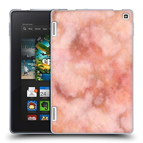 Head Case Designs Officially Licensed Martina Illustration Rose Gold Marbles 2 Soft Gel Case Compatible with Amazon Fire HD 7