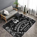 NiYoung Luxury Ultra Soft Area Rug Rectangle Throw Rug Carpet Non-Slip Floor Mats Home Decor for Sofa Living Room Bedroom Office - 60x39 Inch - Vintage Skeleton Magic Ouija Board Black