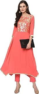 ZIYAA Women's crepe a-line Salwar Suit Set