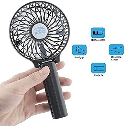 Golu Small Hand Held Battery Operated USB Fan,Table Fan Tower Fan Mini Fan Hand Fan Portable Fan Travel Fan Personal Portable Rechargeable Fan with 3 Settings for Travel Home Office and Outdoor Use