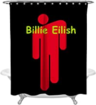 others TS_Eilish Family Bathroom Bath Curtains Waterproof Shower Curtains Sets with Hooks for Home Hotel