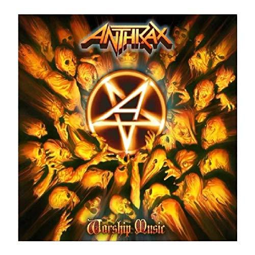 wzgsffs Anthrax Music Rapper Album Cover Hot Poster E Stampe Wall Art Print su Tela per Soggiorno Decorazione Camera da Letto di Casa-28X28 Pollicix1 Senza Cornice