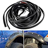 30ft Feet New Car Wheel Fender Flare Edge Rubber Trim Wiper Style Replacement With 3M Tape Wheel Wells