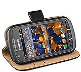 Mumbi Etui en Cuir pour Samsung Galaxy Xcover 2 Noir