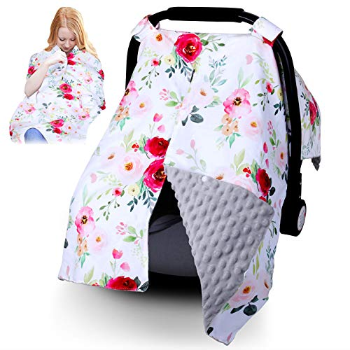 Infant Car Seat Canopy for Baby Boys or Girls  2 in 1 Car Seat Covers for Babies  Nurisng Cover Up for New Mom  Super Warm Baby Carrier Cover