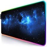 Titanwolf - Alfombrilla de ratón Gaming RGB - Mouse Pad 800x300 mm - LED Multicolor 7 Colores - 4 Modos de Efectos - Mejora Precisión y Velocidad - Superficie Inferior de Goma – Motivo Space