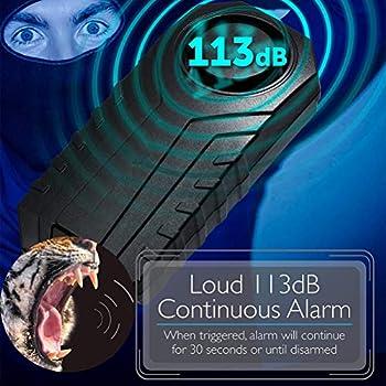 DUOCACL Alarme de vélo, sirène sans Fil antivol pour véhicules de Moto de Moto avec télécommande, 113 DB Super Fort