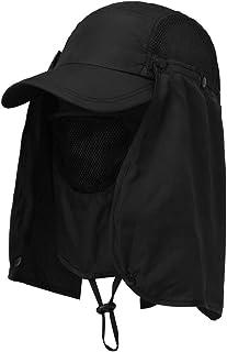 CoWalkers Solar Sombrero,Sombrero de Pesca Plegable Sombrero para el Sol 360 °Protección UV Ajustar la Tapa para Hombres Mujeres Senderismo Pesca Patio de jardín Al Aire Libre