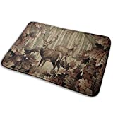 Deer Lodge Cabin Memory Foam Bath Mat Non Slip Ultra Absorbent Bathroom Rug Carpet, 15.7' X 23.5'