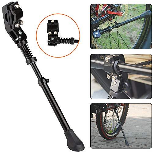 KATLY SeitenstäNder Fahrrad,FahrradstäNder Mit Rutschfestem Gummifuß,Fahrrad StäNder FüR 16,20,24,26 Zoll Raddurchmesser FahrräDer Mountainbike,Black