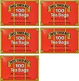 Swee-Touch-Nee Tea, Orange Pekoe and Pekoe Cut Black Tea, 100-Count Tea Bags (Pack of 5)