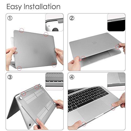 Fintie Hülle für MacBook Pro 13 (2019 2018 2017 2016 Freisetzung) A2159 / A1989 / A1706 / A1708 - Ultradünne Plastik Hartschale Schutzhülle Snap Case für 13 Zoll MacBook Pro, Kristall Klar