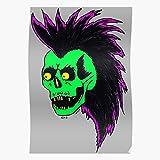 Green Metal Tattoo Skull Anarchy Punk Music Heavy Regalo per la Decorazione Domestica Poster da Parete Stampa Artistica 11.7 x 16.5 inch