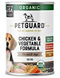 PetGuard Organic Chicken and Vegetable Entrée Wet Dog Food, USDA Certified Organic, 12.7-oz, case of 12