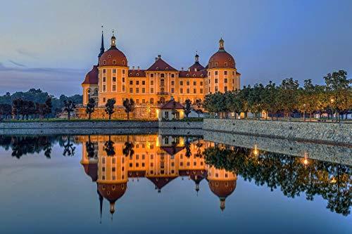 Puzzle 1000 Teile Rätsel Für Erwachsene, Kinder, Jugendliche-Schloss Moritzburg