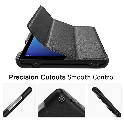 MoKo Huawei MediaPad T3 7.0 Hülle - Ultra Lightweight Slim PU Leder Tasche Schutzhülle Schale Smart Shell Case Cover mit Standfunktion für Huawei MediaPad T3 7.0 Zoll Tablet, Schwarz - 6