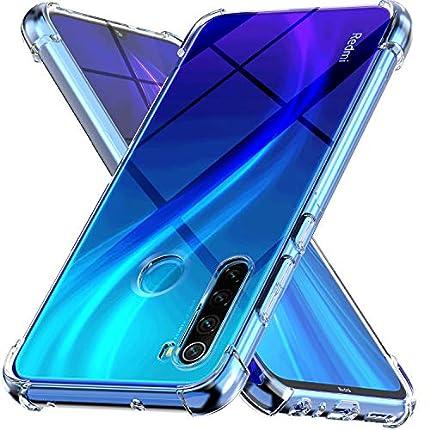 Ferilinso Funda para Xiaomi Redmi Note 8 2019 & 2021 [Transparente TPU Silicona Carcasa] [10X Anti-Amarilleo] [Compatible con la Cristal Templado Protector de Pantalla][Anti-arañazos](Transparente)