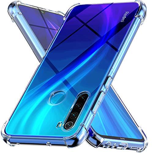 Ferilinso Funda para Xiaomi Redmi Note 8 [Transparente TPU Silicona Carcasa] [10X Anti-Amarilleo] [Compatible con la Cristal Templado Protector de Pantalla][Anti-arañazos](Transparente)