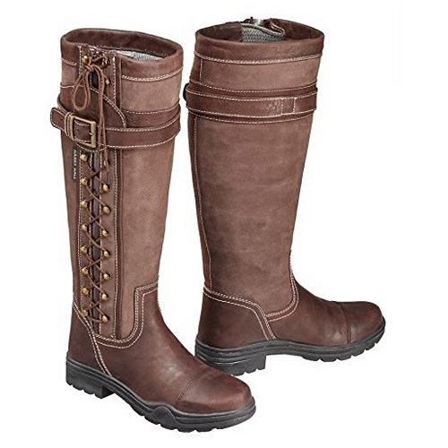 Harry Hall Overstone Country Boots - Calf Width Regular - Colour Brown - Size UK 3