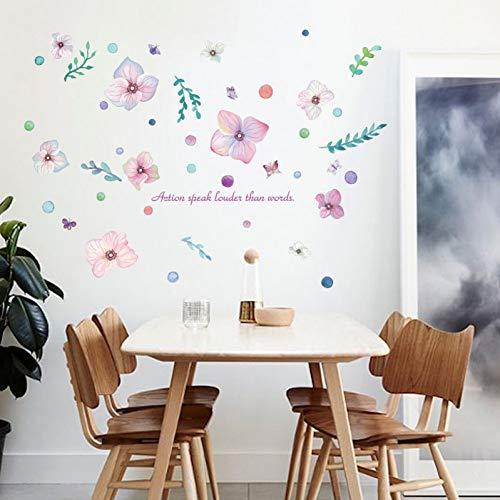Dalao muurstickers, handbeschilderd, romantische bloemen, veranda, koelkast, restaurant tv-achtergrond, decoratieve muurstickers