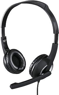 Hama Essential HS 300 Binaural Diadema Gris - Auriculares con micrófono (PC/Juegos, Binaural, Diadema, Gris, De plástico, ...