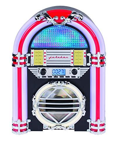 Silva Schneider Jukebox 66 UKW CD-Radio CD, UKW Negro, Color Blanco, Rojo